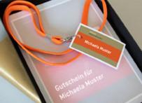 Präsentationsseminar verschenken! Anmeldebestätigung in attraktive Geschenkebox